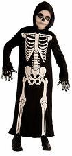 Kids Skeleton Reaper Costume Chils Grim Reaper Robe Halloween Size Large 12-14