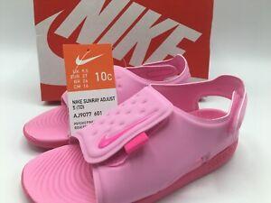 Nike Sunray Adjust 5 TD Pink Toddler Sports Sandals Size 10C AJ9077-601 New!