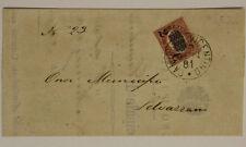 Storia Postale 2 Cent su 10 Lire 1881 Camisano Vicentino-Selvazzano Lettera#SP56