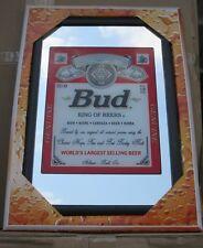 Mirror Budweiser beer pub/bar, mancave, home decoration