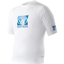 Body Glove Fitted Rashguard Shirt Men's Short Sleeve White X-Large