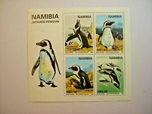 NAMIBIA 1997 JACKASS PENGUIN MIN/SHEET MNH