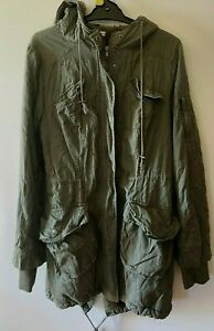 Ladies size 12 green anorak lined jacket hooded coat  Hot Options  *warm*