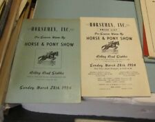 1954 Maryland Horsemen Horse & Pony Show Program Prize List Rolling Road Stables