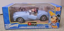 Burago Disney Lancia Aurelia B24 Spider Mickey Mouse 1:18 Scale New
