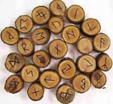 Elder Wood Rune Set Divination Supplies Pagan Occult Wicca Witchcraft Tools