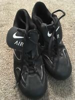 Nike Air Baseball Black & White Metal Cleats Shoes, 041012, Size 9.5