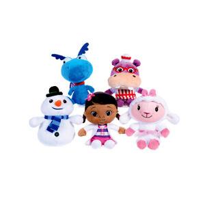 Doc Mc Stuffins Hallie Lambie Stuffy Chilly Dragon Hippo Snowman Plush Disney