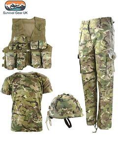 Kids Army BTP Camo Fancy Dress Children's Soldier Outfit Uniform FREE DELIVERY