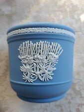 New ListingElegant Wedgwood Blue Jasperware Jardiniere Cache Pot