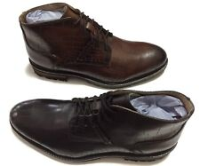 New GBX Men's Black & Tan Crocodile Print Leather BRECCAN Ankle Boots each