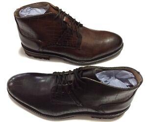 New GBX Men's Black & Tan Crocodile Print Leather BRECCAN Ankle Boots $69.99each