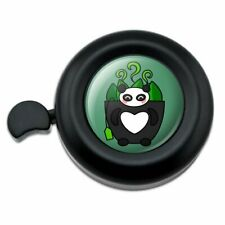Green Tea in Giant Panda Bear Mug Bicycle Handlebar Bike Bell
