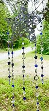 MOON SUNCATCHER-MOONS,STARS-CRYSTAL-BLUES/CLEAR-HANDCRAFTED-3 DIMENSIONAL # 933