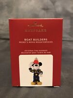 2020 Hallmark Keepsake Ornament Boat Builders Mickey's Movie Mouseterpieces