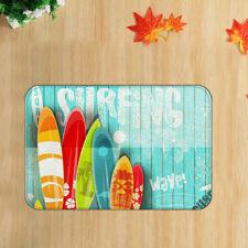"Vintage Summer Surfboard Shower Rug Floor Mats Bedroom Carpet Bath Mat 19x31"""