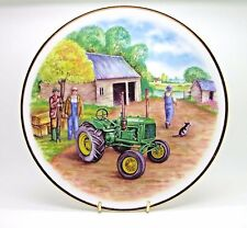 ~~~ John Deere ~ Bone China Tractor Plate