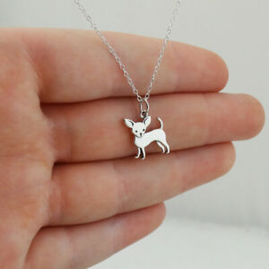 Chihuahua Dog Charm Necklace - 925 Sterling Silver - Pet Lover Animal Gift