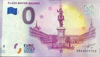BILLET 0 EURO PLAZA MAYOR MADRID  ESPAGNE 2019-2 NUMERO DIVERS