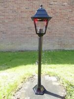 1m Victorian Garden Lamp Post Single Head Aluminium Garden Pathway Lighting