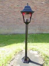 1m Victorian Garden Lamp Post Single Head Aluminium Garden Pathway Lighting