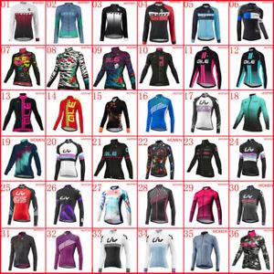 Breathable Team Womens Cycling Jersey Bicycle Shirt Long Sleeve Bike Uniform