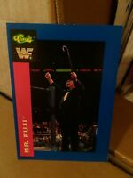 WWF MR FUJI CLASSIC SUPERSTARS TRADING CARD 47 1991 WRESTLING WWE WCW HASBRO