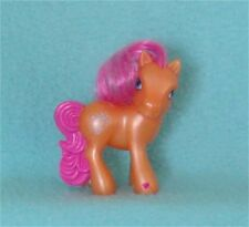 My Little Pony with Orange Sparkly Body, Pink Hair, Blue Stars - Hard to Find!