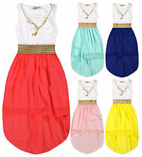 Girls Vibrant Party Dress New Kids Chiffon Skirt Lace Top Dresses Age 3-4 Years