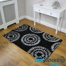 Metro MT20 - Black/Grey Rug 0.90 x 1.50 - Modern Rug *SALE* RRP £110 *Wool Rug*