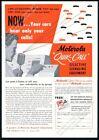 1949 Motorola radio Quik Call system art vintage trade print ad