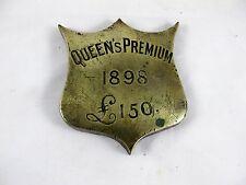 HORSE BRASS SHIELD SHAPED, QUEENS PREMIUM 1898