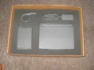 Vintage Apple Macintosh PowerBook 100 W/ HDI-20 FLOPPY DISC DRIVE & AC ADAPTER