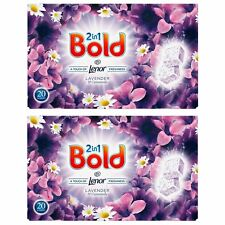 Bold 80 Tablets Washing Laundry Detergent Lavender Camomile Lenor Tabs 40 Wash