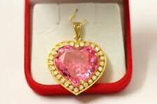 916/22ct sparkling attractive indian gold heart pendant *Boxed*