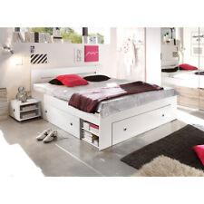 Bett 180x200 Stefan Funktionsbett Doppelbett Bettanlage Nachtkommoden weiß