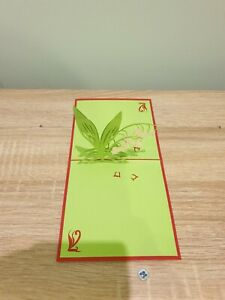 3d Popup Lily Of The Valley Card