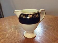 """Wedgwood dark blue Whitehall bone china Leigh shape 4"""" creamer"""