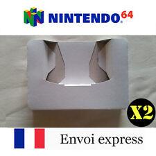 2X Cale neuve pour boite de jeu Nintendo 64 - insert inner tray inlay N64