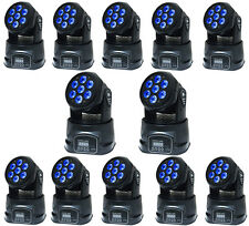 12PCS 70W RGBW LED Moving Head Stage Lighting DMX-512 DJ Club Disco Party Light