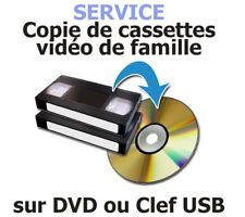 Service de copie de cassettes Vidéo sur DVD ou CLEF