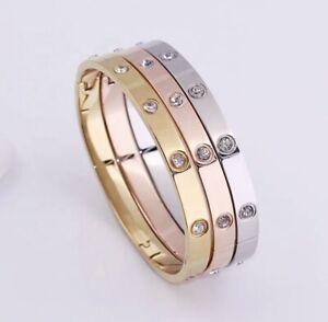 Luxury Premium High Quality Stainless Steel Love Bangle Bracelet
