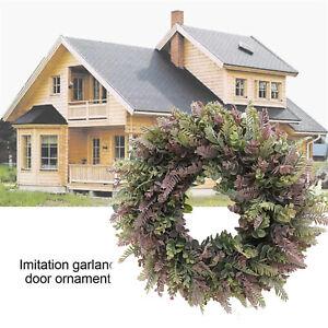 18'' Large Round Eucalyptus Wreath Summer Garland Indoor Front Door Decor