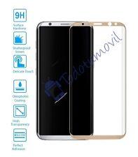 Protector de Pantalla Cristal Templado Curvo 3D para Samsung Galaxy S8 Dorado