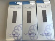 3 Catherines Day Sheer Pantyhose Hosiery COFFEE SIZE E 335-400 lbs 60