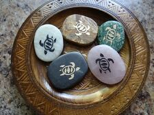 *TURTLE* Carved Worry Stone (1) Gemstone Totem Wicca Pagan Familiar Metaphysical