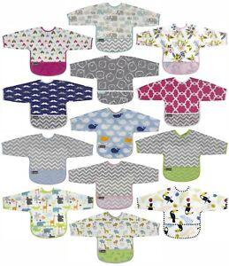 Kushies Cleanbib Art Smock Waterproof Clean Bib w/Pocket & Long Sleeves - K282