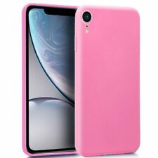 "FUNDA PARA IPHONE XR 6.1"" SILICONA GEL TPU GOMA COLOR ROSA MATE CARCASA FORRO"