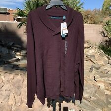 PERRY ELLIS  3X  MEN'S PULLOVER LONG SLEEVE SHAWL COLLAR SWEATER  NWT $89.50