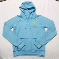Victoria's Secret PINK Love Recycle Light Blue Sweatshirt Hoodie Size Medium